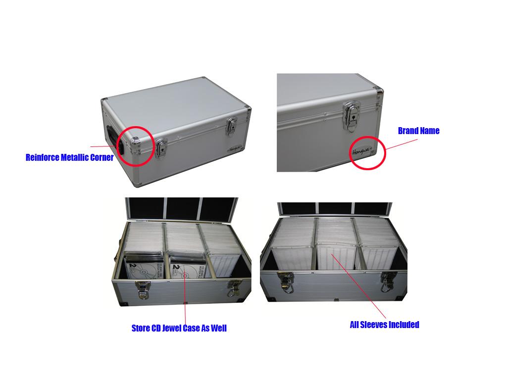 Click Here  sc 1 st  Megadisc Store & 510 CD/DVD Premium Aluminum Storage Case Silver Free Shipping 510 cd ...